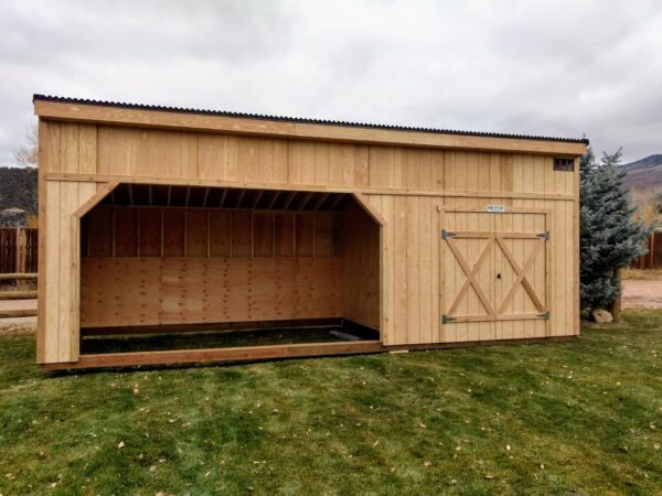 Horse Shelter with a Tack Room