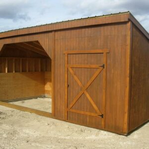Portable Horse Shelter with Tack Room's feature image