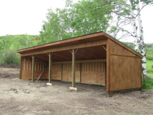 Permanent Horse Shelter 14 x 48