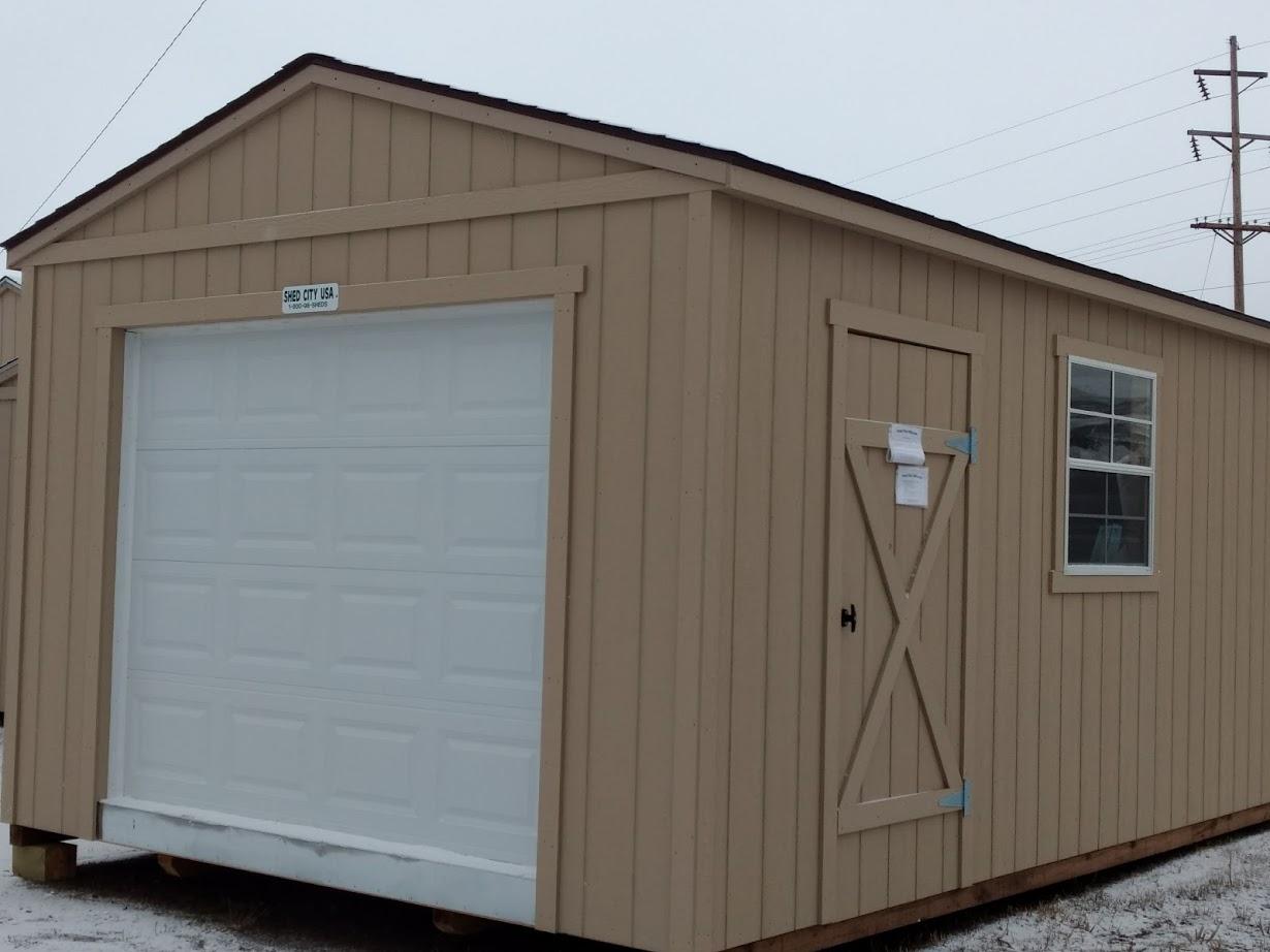 Portable Wood Garage - Shed City USA - Shed City USA