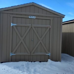 Ranch Style wood shed with Double Doors