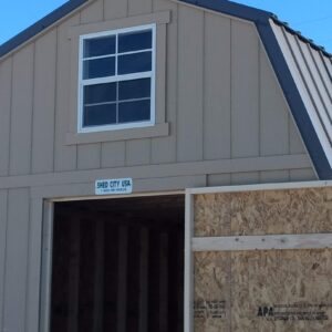 10′ x 12′ Loft Style wood shed in Craig's feature image