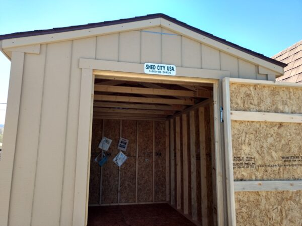 8 x 12 Ranch Style Wood Shed