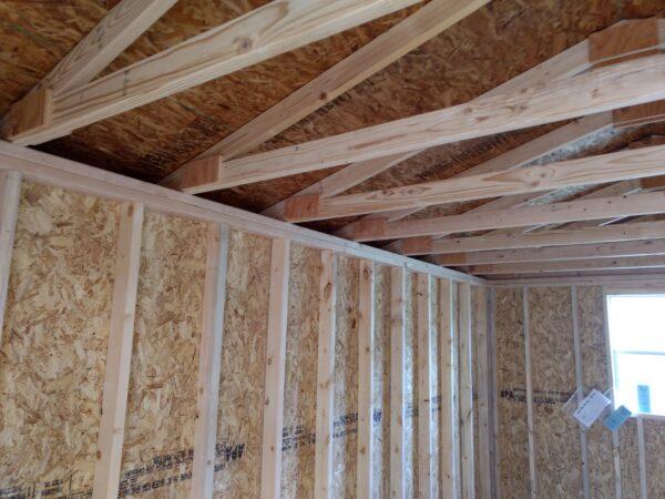 Inside of shed