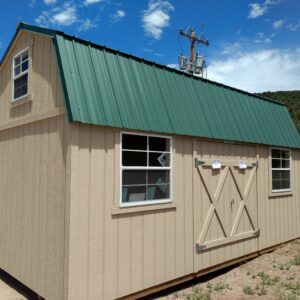 Split Loft with a Green Metal Roof