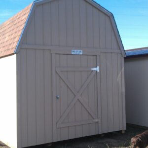 10′ x 16′ Loft Style wood shed's feature image