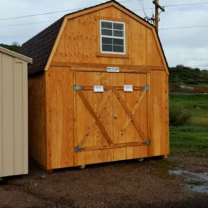 Loft Style wood shed with T-111 siding