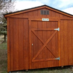 Stained Ranch Style shed