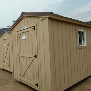 8′ x 12′ Ranch Style wood shed w/ beefed up floor. In Glenwood Springs's feature image