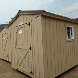 10' x 16' Ranch style wood shed. In Glenwood Springs.
