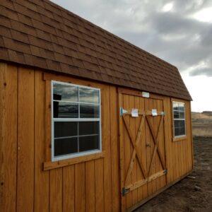 10′ x 20′ Split Loft Style wood shed's feature image