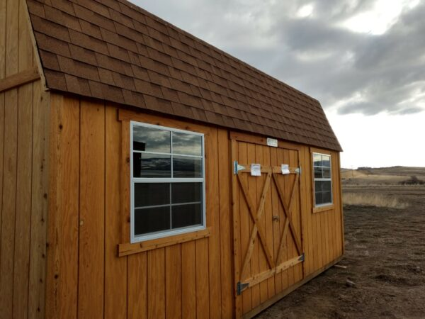Split Loft with T-111 siding and Double Doors