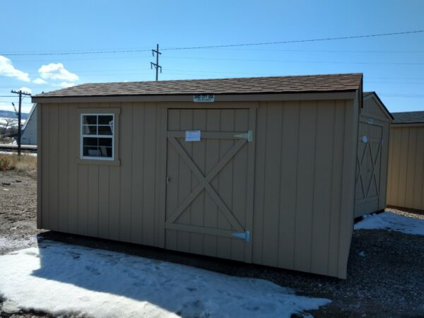 Lean to Shed with door and window on the side